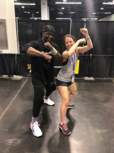 Fitness icon Billy Blanks and Maria at IDEA World