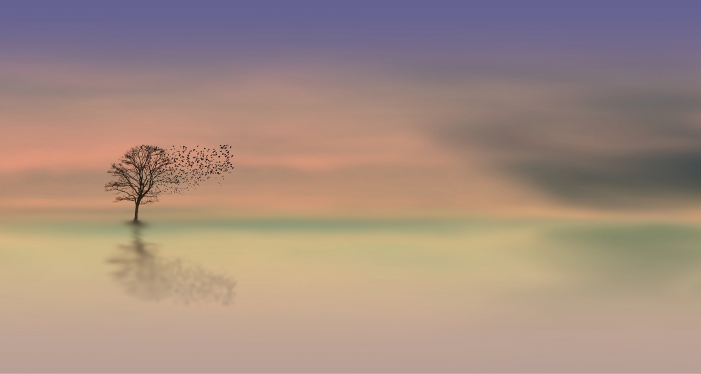 Mindful Moments Pastel Tree